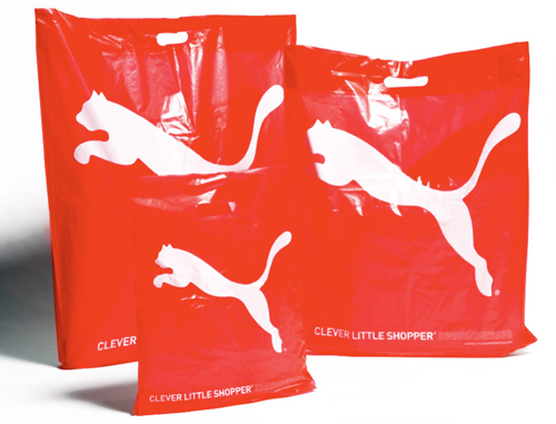 puma eco friendly red bags