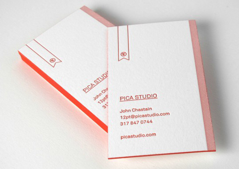 pica studio business card