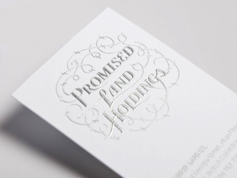 promised land holdings business card