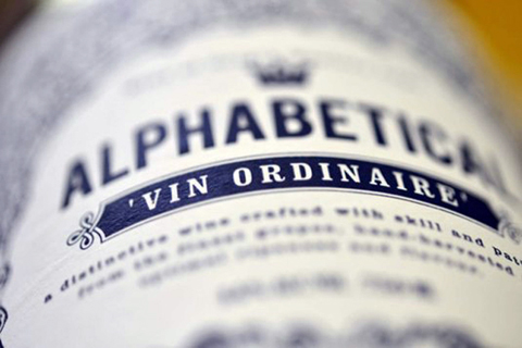 Alphabetical wine